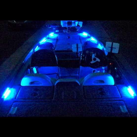Around the bottom or inside Pontoon Boat Deck Lighting KIT LED Light KIT